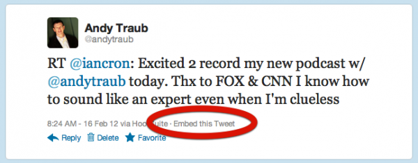 How To Embed A Tweet In A Quote Formatted Post In Standard Theme Interesting How To Quote A Quote