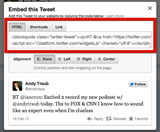 Quote Tweet Fascinating How To Embed A Tweet In A Quote Formatted Post In Standard Theme