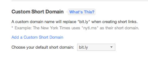 custom domain by bitly