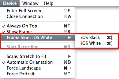 Reflector frame skin color