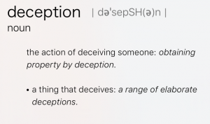 Deception Definition